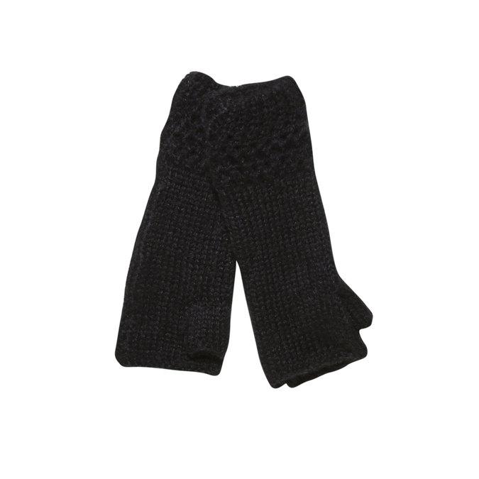 Pletené rukavice bez prstů bata, černá, 909-6380 - 13