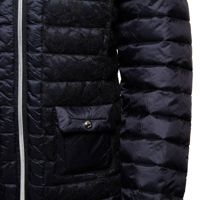 Dámská bunda s krajkou bata, černá, 979-6516 - 16