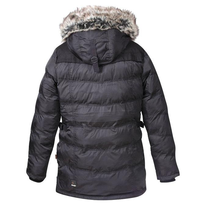 Delší pánská zimní bunda khujo, černá, 979-6032 - 26