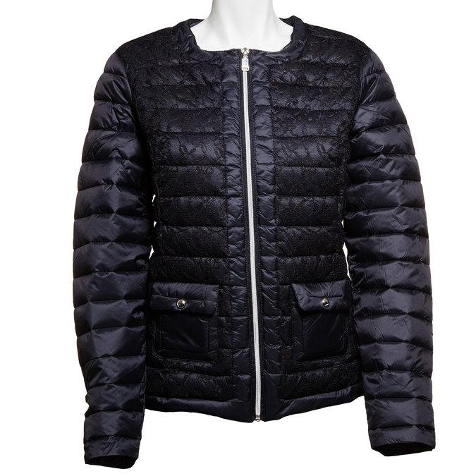 Dámská bunda s krajkou bata, černá, 979-6516 - 13