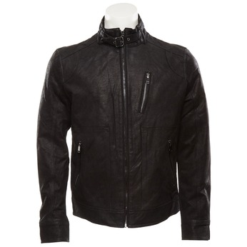 Pánská kožená bunda bata, černá, 973-6108 - 13