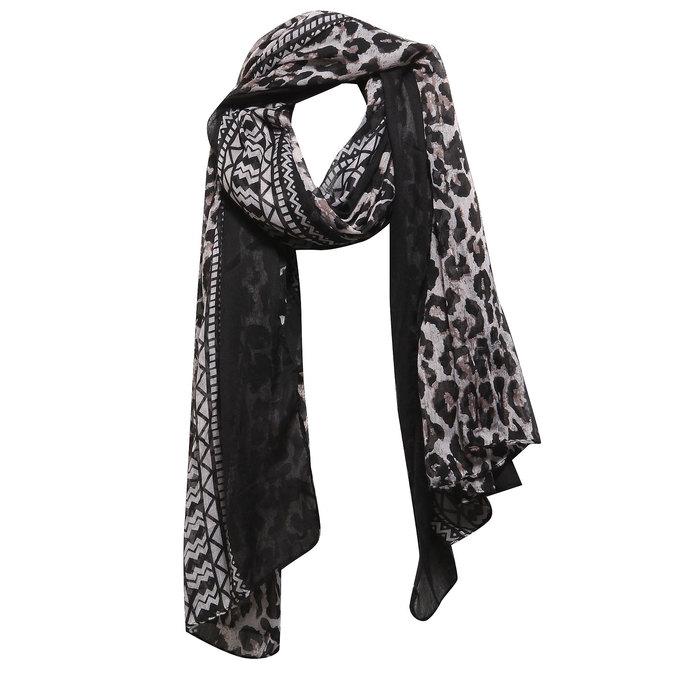 Dámský šátek bata, černá, 909-6316 - 13