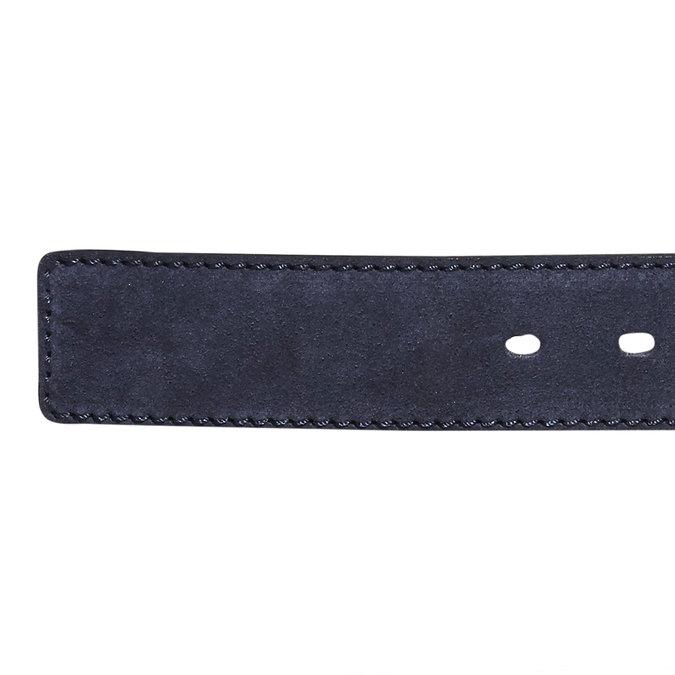 Pánský kožený pásek bata, modrá, 953-9106 - 16