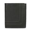 Kožená peněženka s prošitím bata, černá, 944-6148 - 26