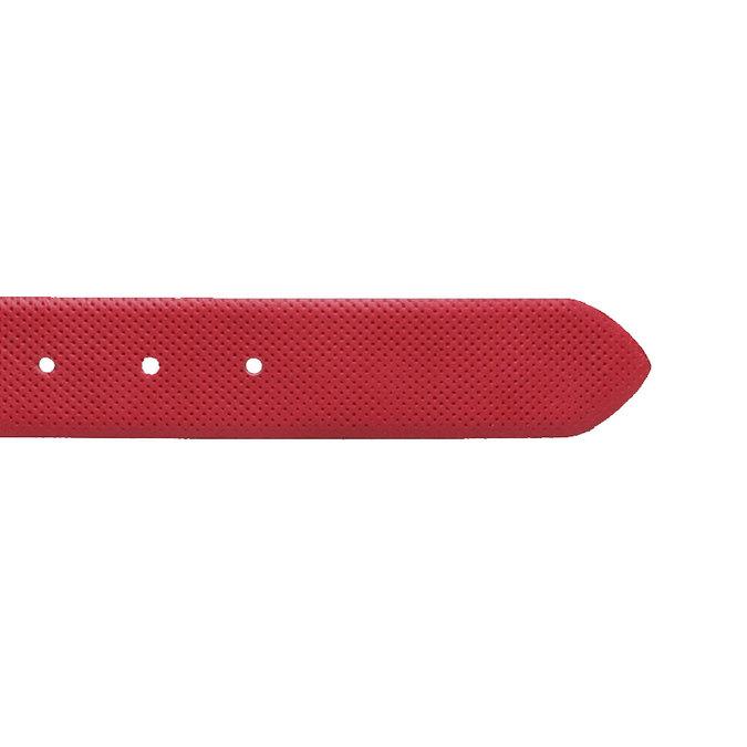 Kožený opasek s perforací bata, červená, 954-5154 - 16