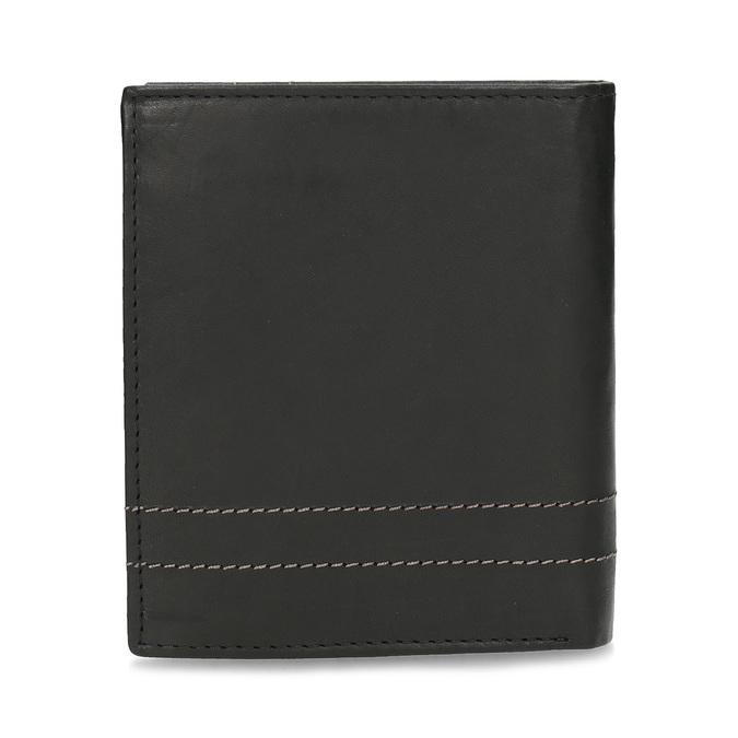 Kožená peněženka s prošitím bata, černá, 944-6148 - 16