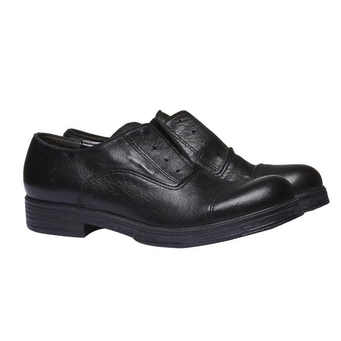 Kožené dámské polobotky bata, černá, 514-6166 - 26