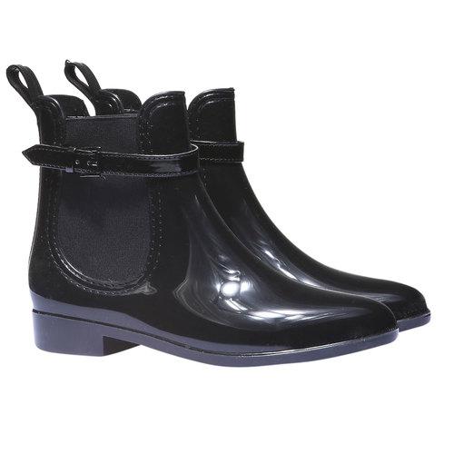 Lakované boty do deště Iris bata, černá, 592-6779 - 26