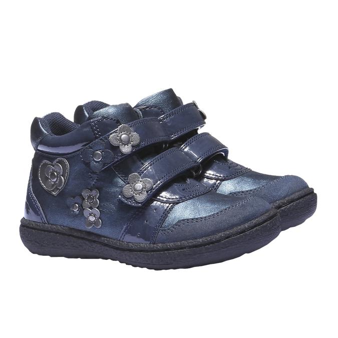 Barevné tenisky mini-b, modrá, 221-9141 - 26