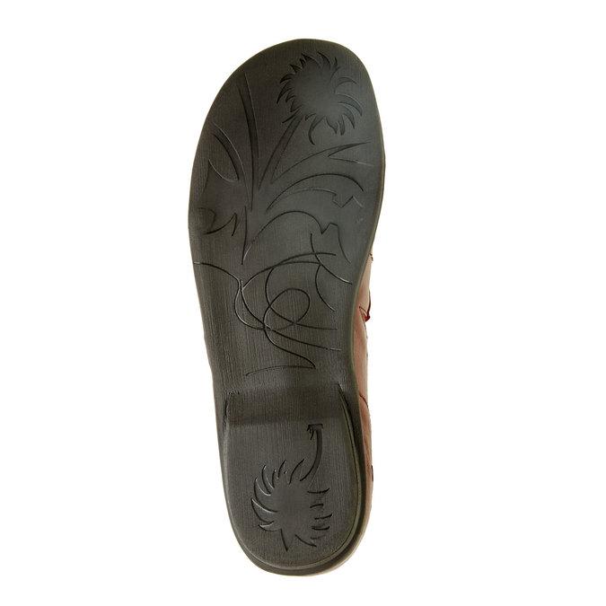 Dámská kožená obuv bata, červená, 556-5100 - 26