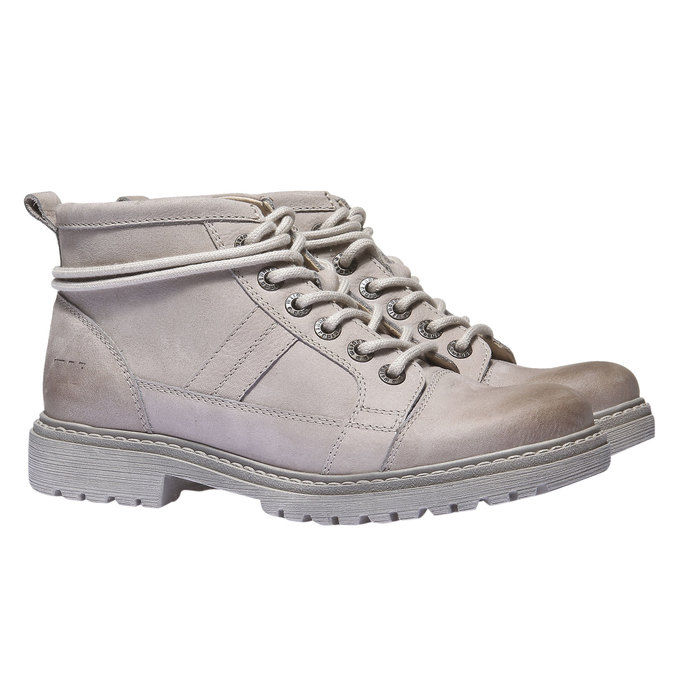 Kožená obuv s originálními tkaničkami weinbrenner, žlutá, 596-8409 - 26