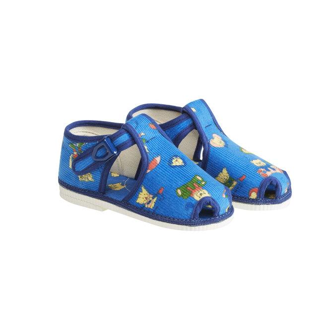 Dětská domácí obuv ke kotníkům bata, modrá, 179-9210 - 26
