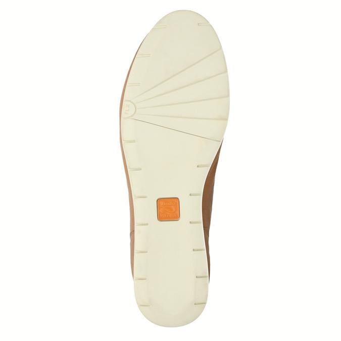 Ležérní kožené polobotky flexible, hnědá, 524-3565 - 26