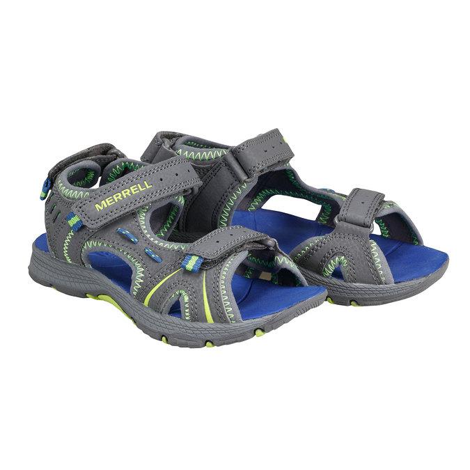 Kožené sandály merrell, šedá, 361-2100 - 26