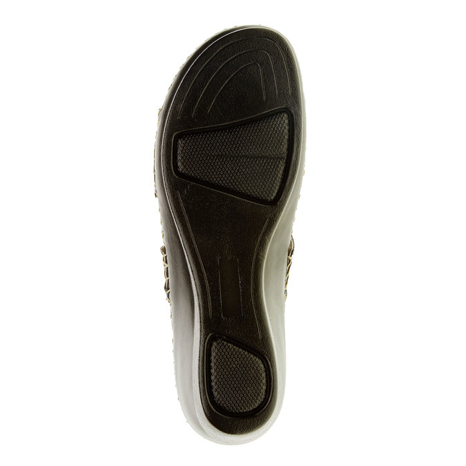 Dámské pantofle na klínovém podpatku comfit, modrá, 674-9249 - 26