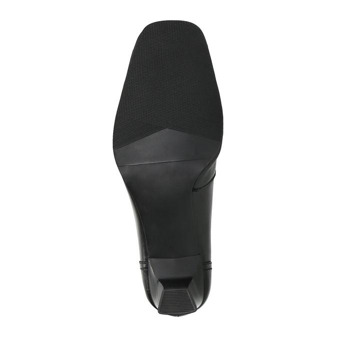 Dámské kožené lodičky bata, černá, 714-6100 - 26