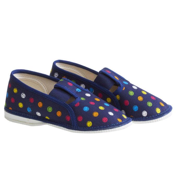 Dětská domácí obuv bata, modrá, 179-9105 - 26