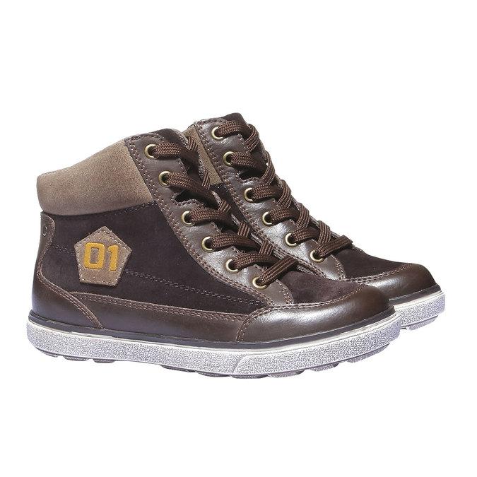 Kids shoes mini-b, hnědá, 313-4178 - 26