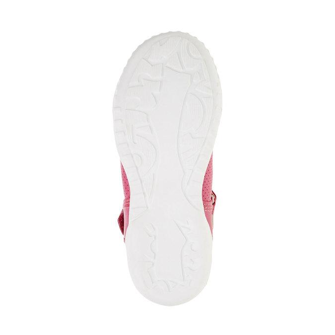 Dívčí baleríny s páskem mini-b, růžová, 221-5160 - 26