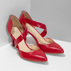 Kožené Lodičky s páskem bata, červená, 724-5904 - 26
