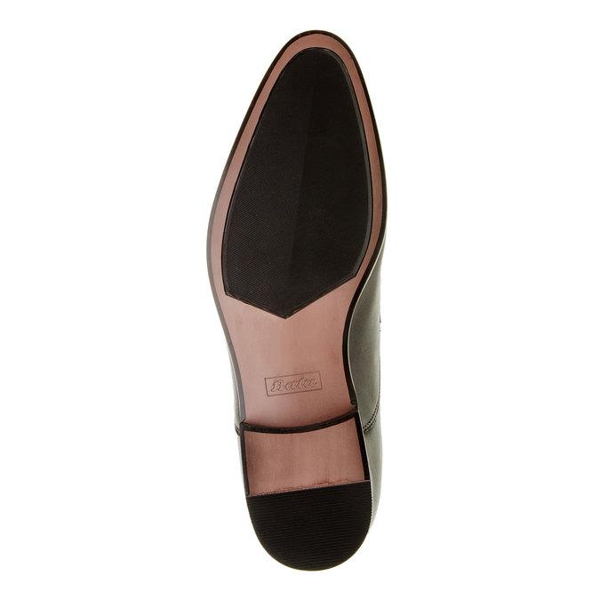 Pánské kožené polobotky bata, černá, 824-6663 - 26