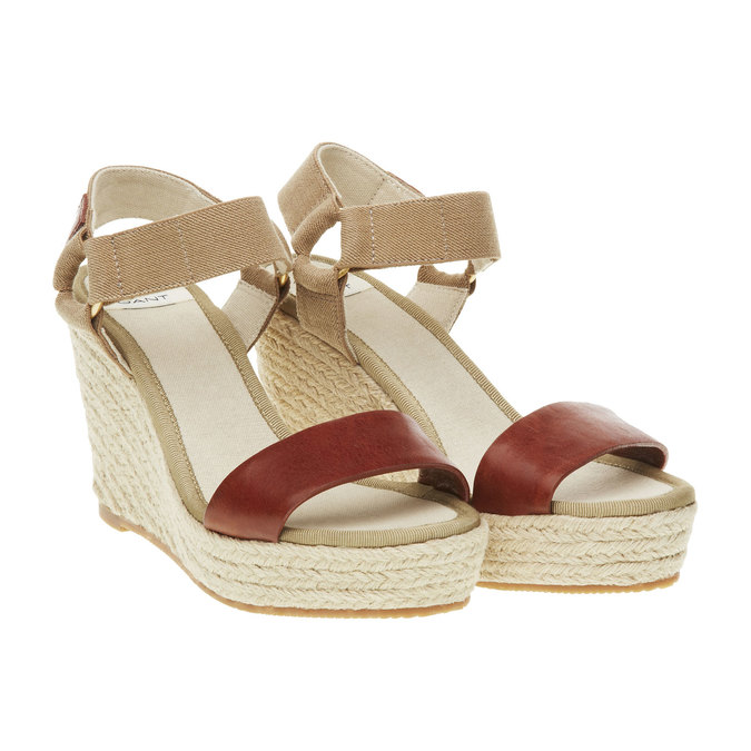 Dámské sandály na platformě gant, hnědá, 764-3014 - 26