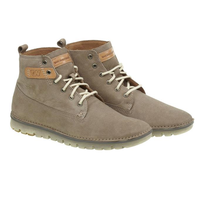 Kožená kotníčková obuv weinbrenner, hnědá, 896-2340 - 26