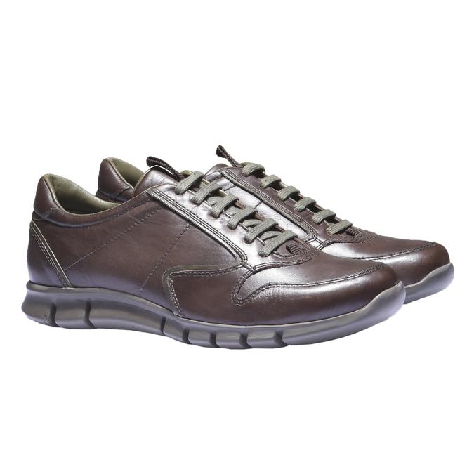 Kožené tenisky bata, hnědá, 844-4270 - 26