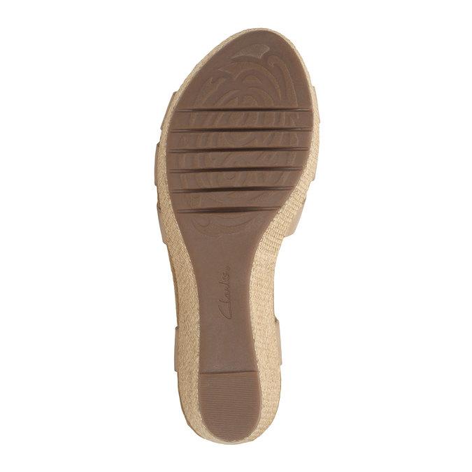 Kožené sandály na platformě clarks, béžová, 764-8002 - 26
