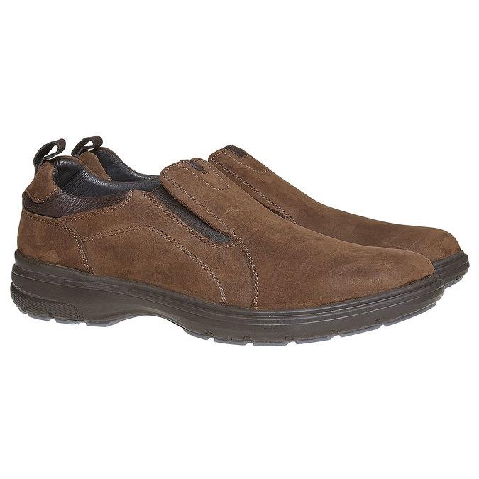 Pánské kožené nazouváky bata, hnědá, 816-4223 - 26