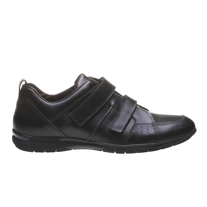 Kožené tenisky bata, černá, 814-6344 - 26