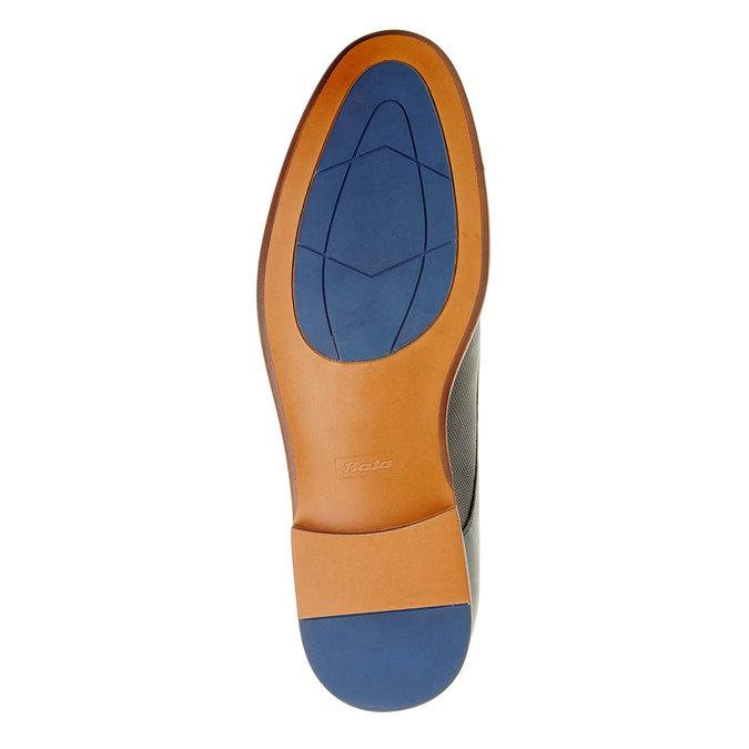 Pánské kožené polobotky v Derby střihu bata, modrá, 824-9551 - 26