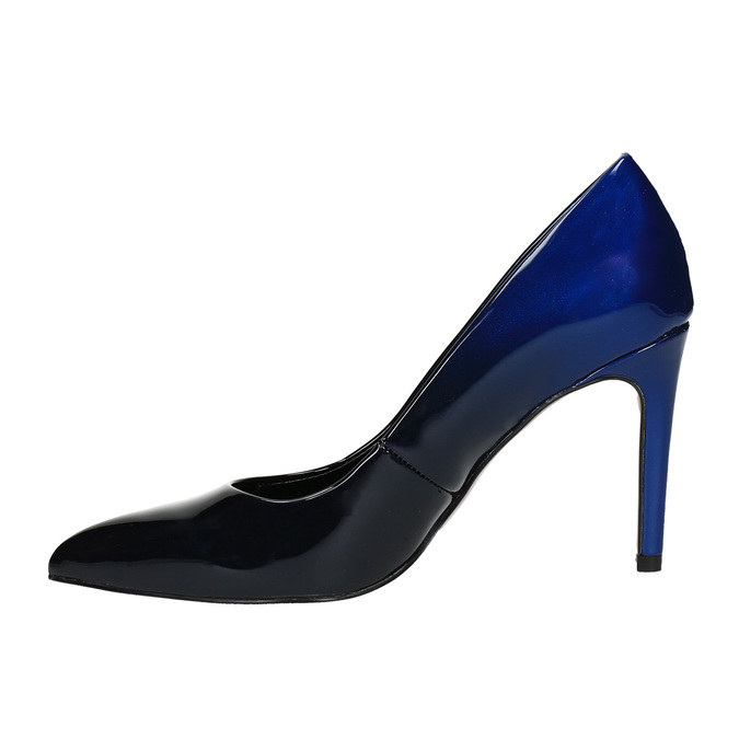 Dámské ombre lodičky bata, modrá, 721-9602 - 26