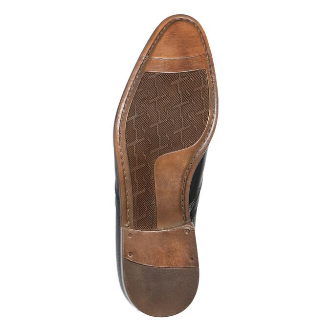 Kožené polobotky v Oxford střihu bata, černá, 824-6812 - 26