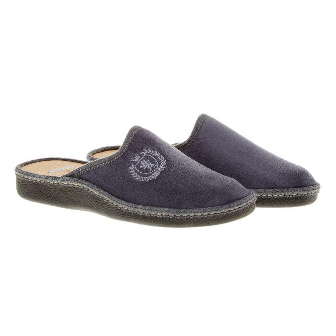 Pánská domácí obuv bata, šedá, 879-2165 - 26