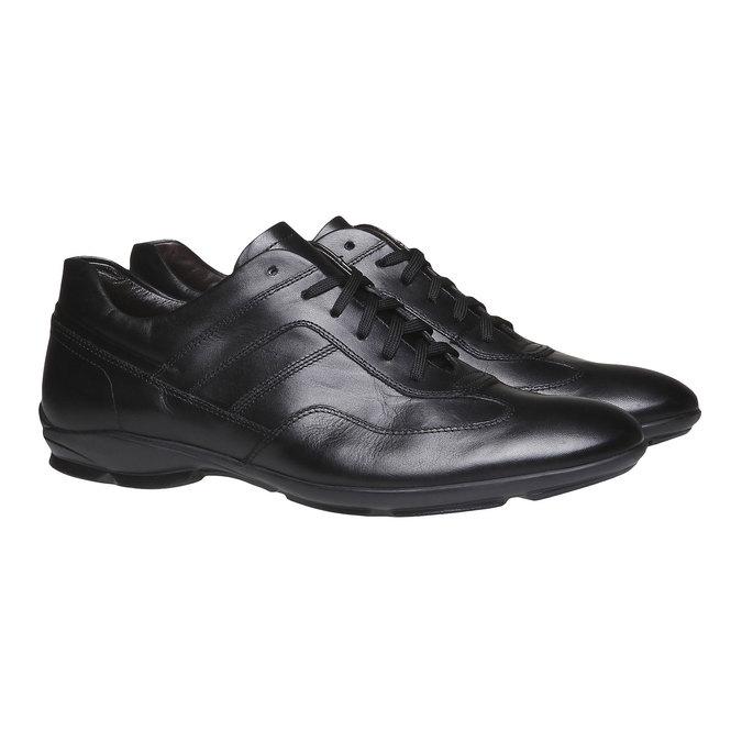 Ležérní kožené polobotky bata, černá, 824-6988 - 26