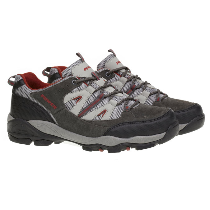 Kožená sportovní obuv power, šedá, 803-2284 - 26