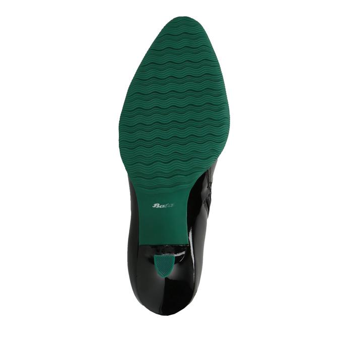 Kožené kozačky s gumovou špičkou bata, černá, 796-6630 - 26
