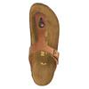 Kožené žabky na korkové podešvi birkenstock, hnědá, 564-3100 - 19