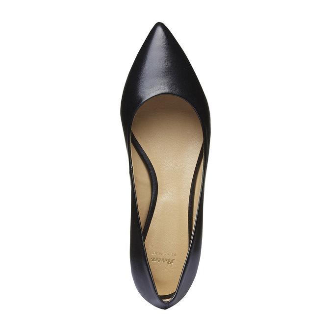 Černé kožené baleríny do špičky bata, černá, 524-6493 - 19