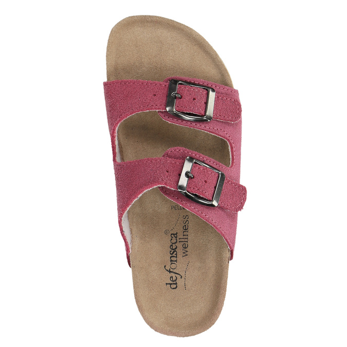 Dětské růžové pantofle de-fonseca, růžová, 373-5600 - 19