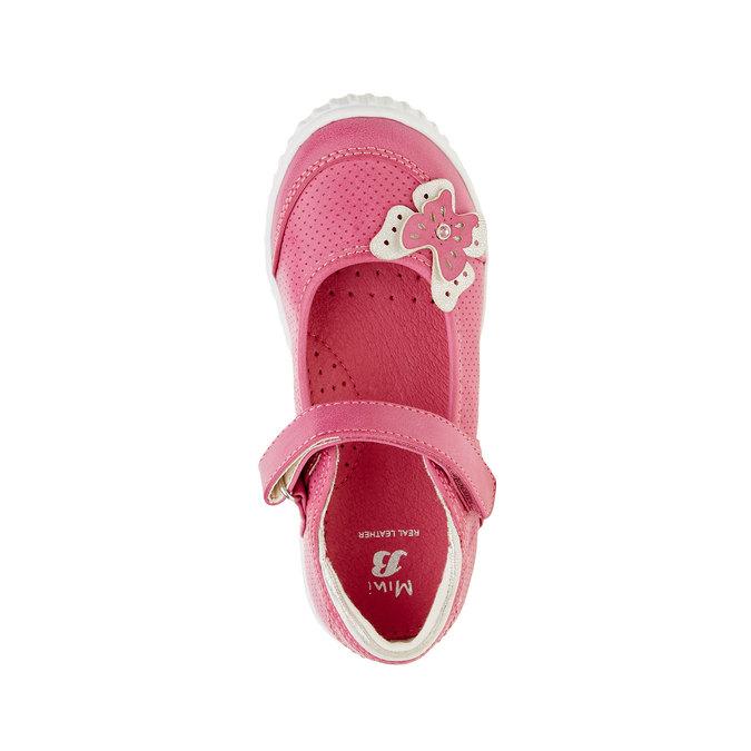 Dívčí baleríny s páskem mini-b, růžová, 221-5160 - 19