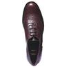Kožené oxfordky s brogue zdobením bata, červená, 524-5185 - 19