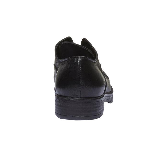 Kožené dámské polobotky bata, černá, 514-6166 - 19