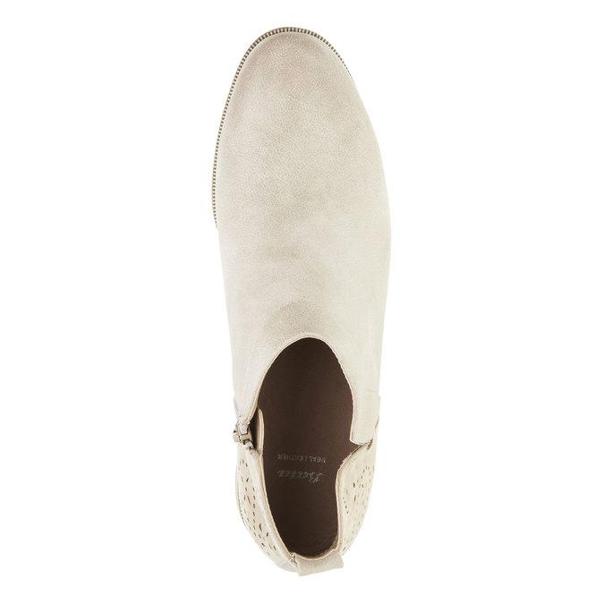 Jarní kotníčkové kozačky bata, bílá, 591-8100 - 19
