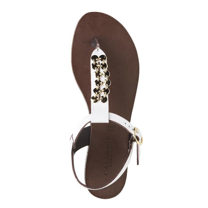 Kožené dámské sandály cafe-noir, bílá, 564-1040 - 19
