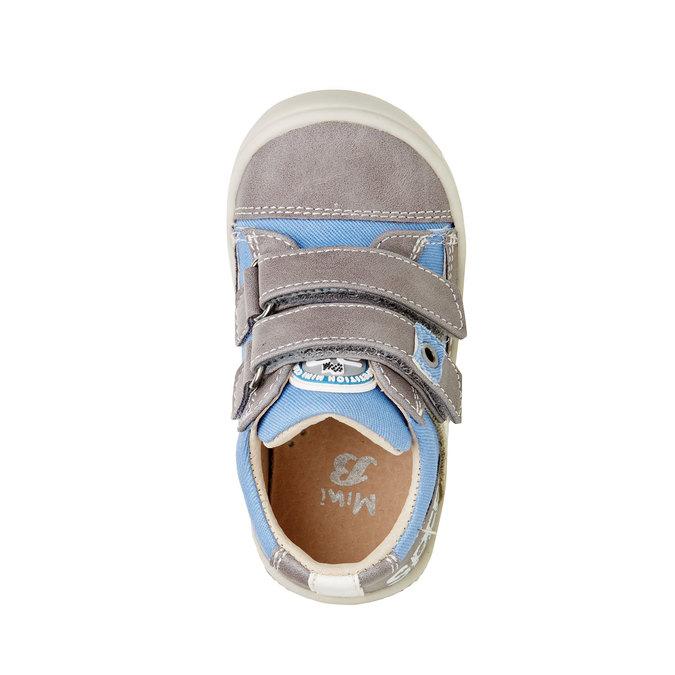 Dětské boty na suché zipy mini-b, šedá, 111-2104 - 19