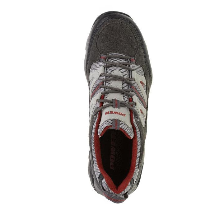 Kožené sportovní tenisky power, šedá, 403-2224 - 19