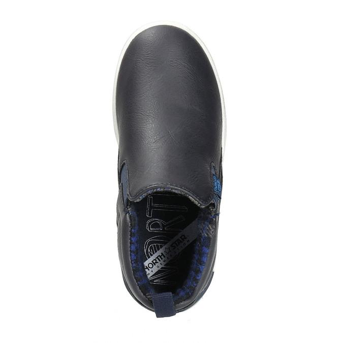 Dětská kotníčková obuv typu Slip-on north-star, modrá, 411-9603 - 19