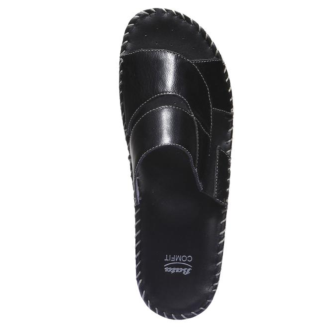 Kožené nazouváky comfit, černá, 574-6174 - 19